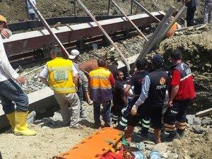 Baraj inşaatında feci kaza