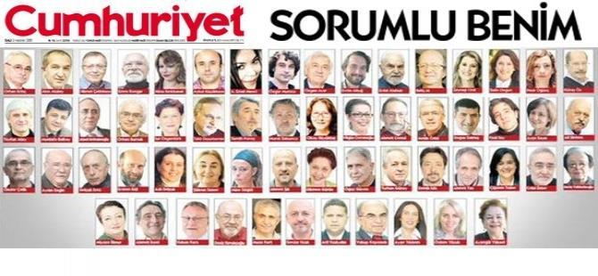 Cumhuriyet yazarları Erdoğan'a karşı tek ses oldu!