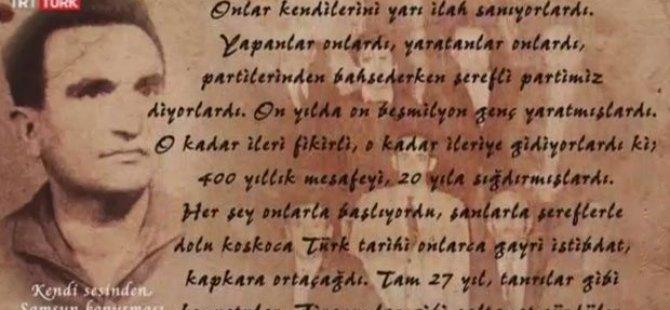 Osman Yüksel Serdengeçti'nin Samsun konuşması