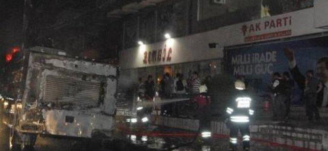 TOMA'ya bomba atıldı: 1 polis yaralı