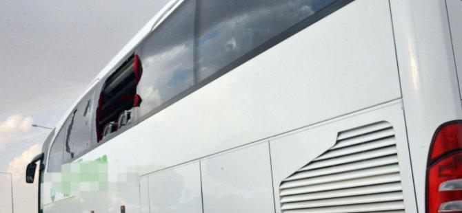Konya'da 4 otobüs taşlandı