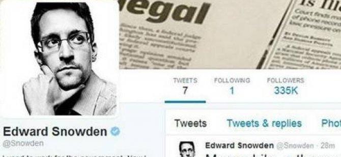 Snowden Twitter hesabı açtı