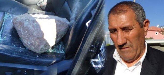 AK Parti adayına taşlı saldırı