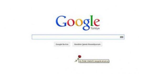 Google'dan Atatürk için 10 Kasım karanfil doodle'ı