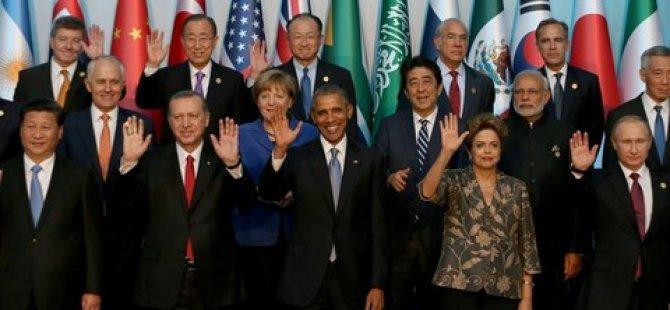 G20'de aile fotoğrafı çekildi