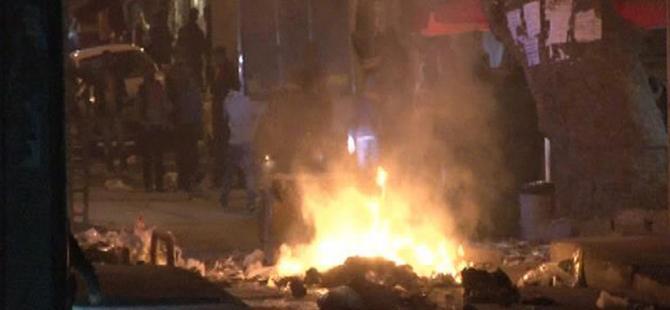 Dolapdere'deki korsan gösteriye polis müdahalesi