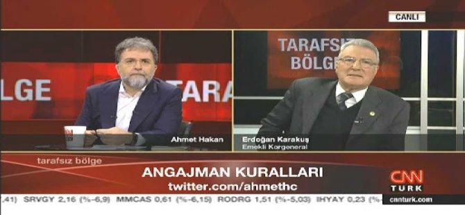 Ahmet Hakan'ın sözlerine komutandan tepki!