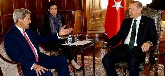 Erdoğan, Kerry ile görüştü