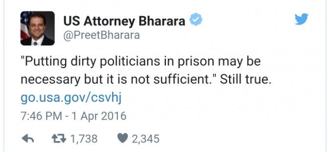 Bharara'dan ilginç tweet