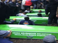 10 çocuğun cenazesi defnedildi
