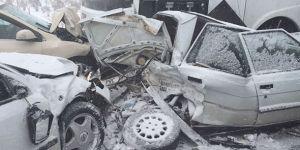 30 araçlı kaza: 2 ölü