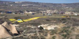 Kapadokya'da balon düştü