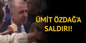 İYİ Partili Ümit Özdağ'a saldırı!