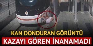 Samsun'da korkunç kaza! Tramvay, yayaya çarptı