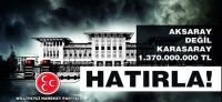 MHP'nin Ak Saray afişlerine zabıta engeli