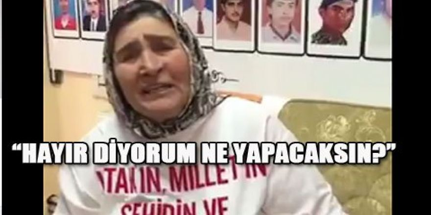 Şehit Anası, Sedat Peker'e tepki gösterdi
